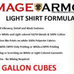 Image Armor LIGHT Shirt Formula Available in 5 Gallon Cubes
