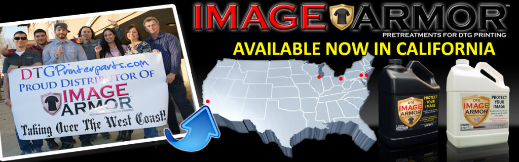 DTGPrinterParts.com now distributing Image Armor in California