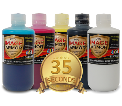 New Image Armor DTG Inks - 35 Second White Ink Cure