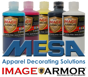 MESA Supplies now selling Image Armor DTG E-SERIES Inks