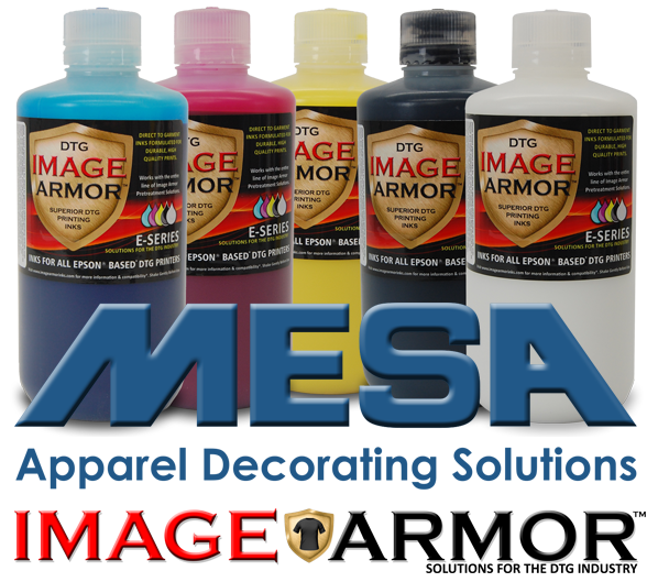 MESA Supplies Now Carrying Image Armor Inks and Pretreatments