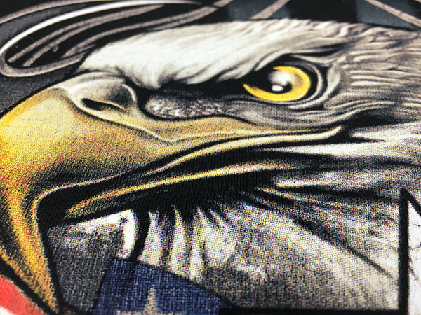 Screen Printing halftone DTG Closeup