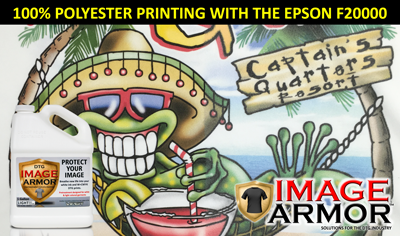 Printing 100% Polyester Shirts with the Epson F2000 DTG Printer