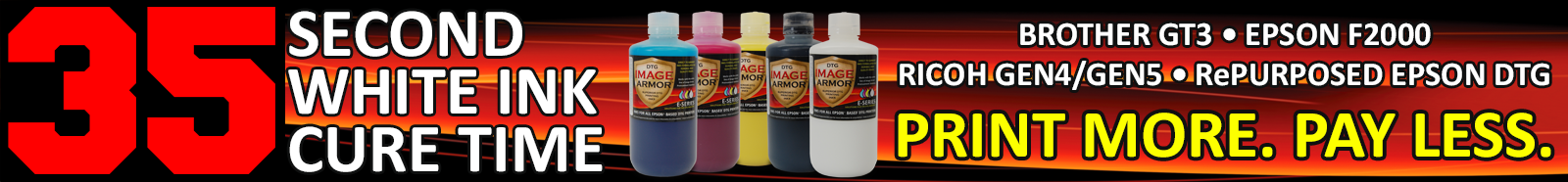 Image Armor DTG Ink SERIES Info Bar