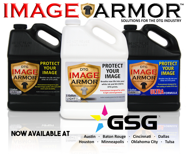 Graphic Solutions Group GSG Now Carrying Image Armor Pretreatments