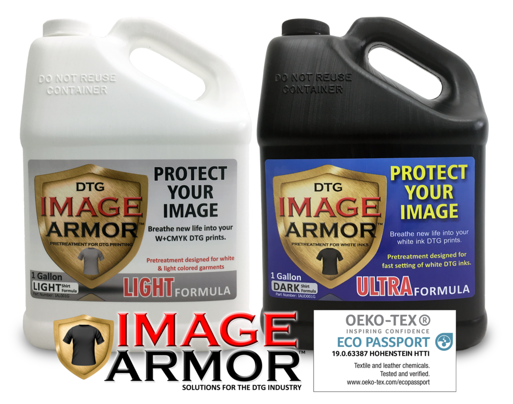 Image Armor LIGHT and ULTRA Shirt Formulas Oeko-Tex Eco Passport Certified