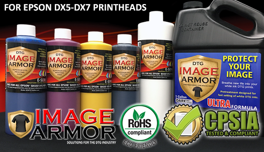 E-SERIES DX5 & DX7 Printhead DTG inks