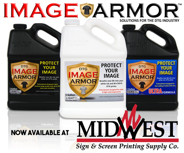 Midwest Sign & Screen Printing Supply Co. and Image Armor TRY BEFORE YOU BUY Pretreatment Offer