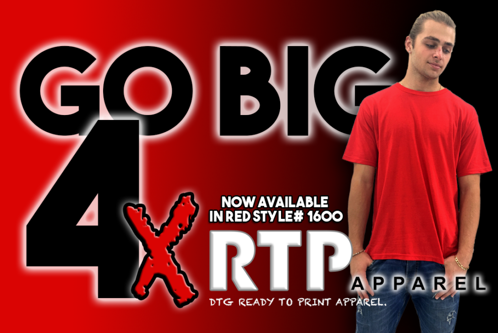 New RTP Apparel Red Shirt Now Available in 4X Sizes